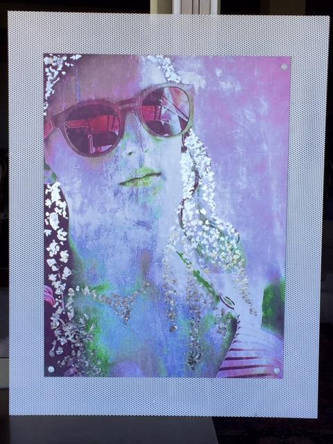 ferro (foto-acrilico-foglia argento) 78x100